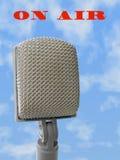 Microfoon - op lucht Stock Foto's