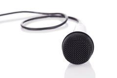 Microfoon op spiegelvloer Royalty-vrije Stock Foto