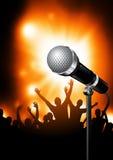Microfoon op Stadium vector illustratie