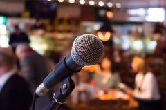 Microfoon op stadium Stock Foto's