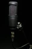 Microfoon op tribune Royalty-vrije Stock Afbeelding