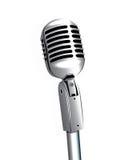Microfoon op Tribune Stock Afbeelding