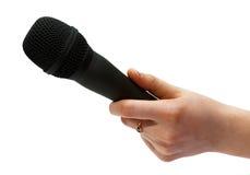 Microfoon ter beschikking Stock Foto