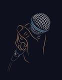 Microfoon ter beschikking Royalty-vrije Stock Afbeelding