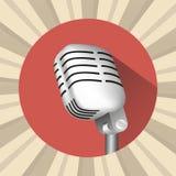 Microfoon uitstekend pictogram Stock Afbeeldingen