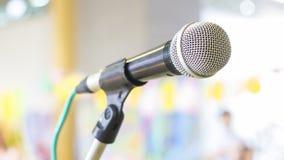 Microfoon voor conferentie Stock Foto's