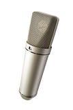 Microfoon voor uw geïsoleerdee stem Stock Foto