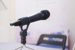 Microfoon voor van communicatie het congresdocumenten gebeurtenissenbesprekingen Royalty-vrije Stock Afbeeldingen