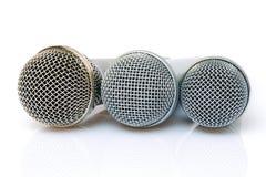 Microfoons royalty-vrije stock foto's
