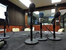 Microfoons en stem Stock Afbeeldingen