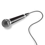 Microfoonvector Royalty-vrije Stock Afbeeldingen