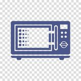 Microgolf vectorpictogram Royalty-vrije Stock Foto's