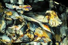 Micrografia abstrata da metionina, um ácido aminado, em 40X imagem de stock