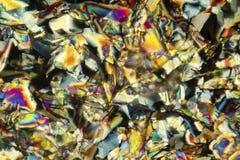 Micrografia abstrata de cristais coloridos do phenylalanine do ácido aminado foto de stock royalty free