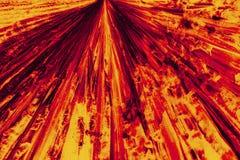 Micrografia abstrata do teste padrão vermelho e alaranjado brilhante da lisina c fotos de stock royalty free
