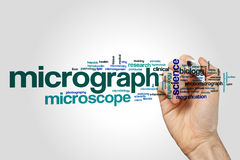 Micrograph word cloud Stock Image