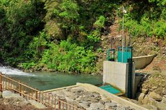 Microhydroelectric  dam Royalty Free Stock Photography