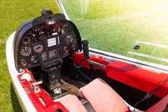 Microlight飞机驾驶舱 免版税库存照片