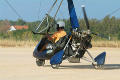 Microlight airplane on the ground Stock Image