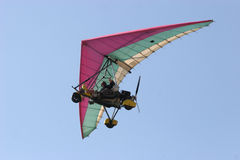Microlight in flight Royalty Free Stock Photography