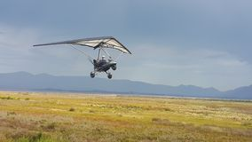 Microlight in Flight Royalty Free Stock Photos