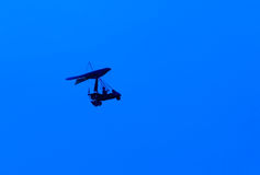 Microlight silhouette Royalty Free Stock Image