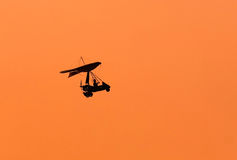 Microlight silhouette Stock Photo