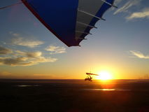 Microlight-Sonnenuntergang Stockbild