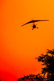 Microlite Aircraft at Sunset Royalty Free Stock Images
