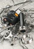 Micromètre à vis d'outil et de tour Images libres de droits