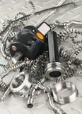 Micromètre à vis d'outil et de tour image libre de droits