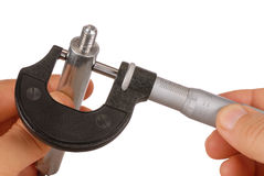 Micromètre Photographie stock