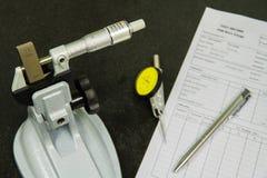 Micromètre de calibrage Photo stock