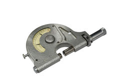 Micrometer. It is isolated on a white background stock photo
