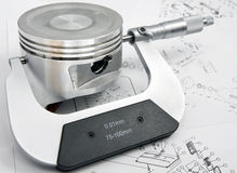 Micrometer. Will measure dimensions of piston Stock Images