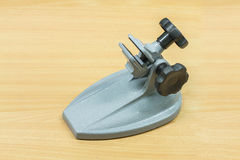 Micrometer calibration stand Royalty Free Stock Photo