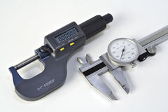 Micrometer and Caliper Royalty Free Stock Photography
