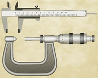 Micrometer and Calliper Stock Photography