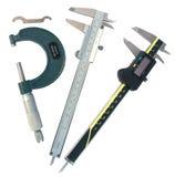Micrometer en vernierbeugel (met het knippen van wegen) Royalty-vrije Stock Afbeeldingen