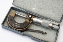 Micrometer to measure a thousandth of a millimeter Royalty Free Stock Image