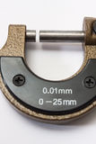 Micrometer to measure a thousandth of a millimeter Stock Images