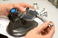 Micrometric measuring Stock Images