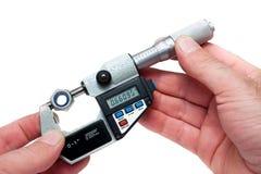 Micrometro di Digitahi dell'attrezzatura di misura Immagine Stock