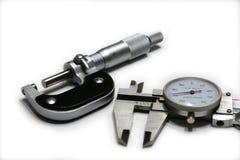 Micrometro e compasso Fotografie Stock Libere da Diritti