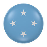 Micronesia button on white background. 3d rendering of a Micronesia flag on a button Stock Photos