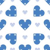 Micronesia, Federated States Of flag patriotic. Micronesia, Federated States Of flag patriotic seamless pattern. National flag in the shape of heart. Vector Stock Photography