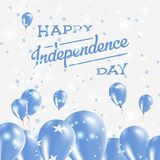 Micronesia, Federated States Of Independence Day. Micronesia, Federated States Of Independence Day Patriotic Design. Balloons in National Colors of the Country Stock Photo