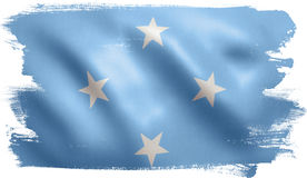 Micronesia Flag. With fabric texture. 3D illustration Stock Photo