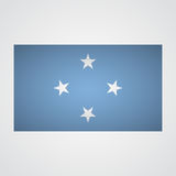 Micronesia flag flag on a gray background. Vector illustration Stock Photo