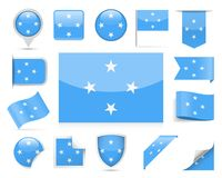 Micronesia Flag Vector Set. Micronesia Flag Set - Vector Illustration Royalty Free Stock Image